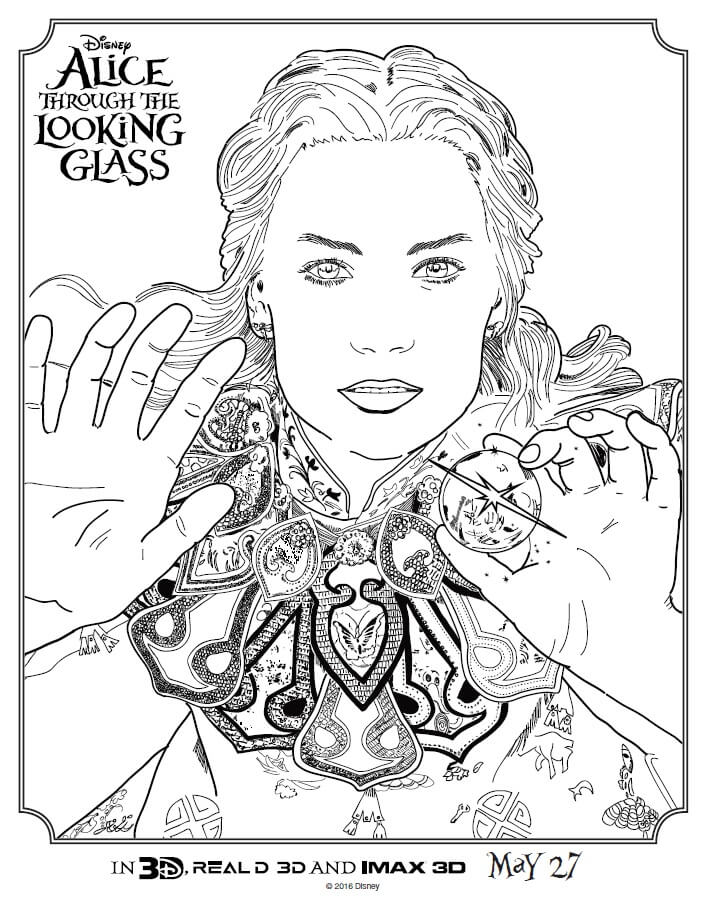 Alice Through The Looking Glass Coloring Pagesrhmamasmission: Coloring Page Of A Bunny At Baymontmadison.com