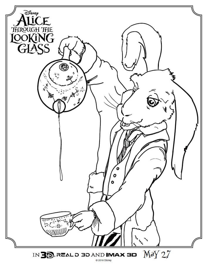 Check Out These Alice Through The Looking Glass Coloring Pages Print Full Size