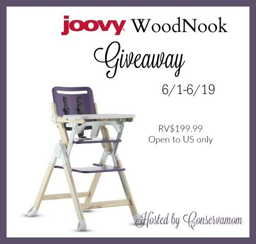 Small on space but big on style! Learn all about the Joovy WoodNook and enter to win the Joovy WoodNook Wooden High Chair Giveaway!