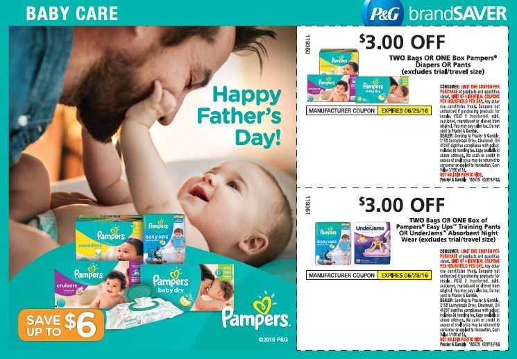 This Sunday you can score some major savings on Pampers Diapers and Easy Ups! Get coupons in Sunday's paper or online to stretch your dollars to the max.