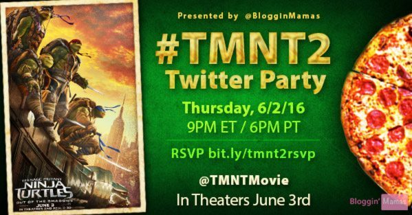 Everyone is excited to see the Turtles in action! Celebrate with us at the #TMNT2 Teenage Mutant Ninja Turtles 2 Twitter Party 6/2 at 9pm EST! RSVP to win!
