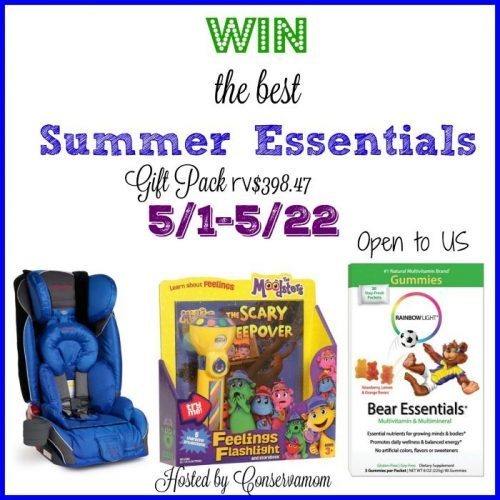 Camping, adventures, outdoor fun? To get your summer started off on the right foot...out the door, enter the great Summer Essentials giveaway!
