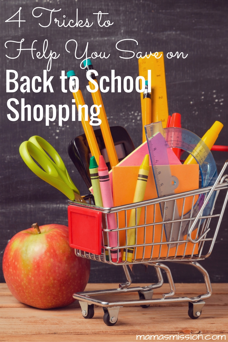 Save your time, money and sanity before you head out the door with these 4 tricks that will help you save, and save you, when back to school shopping!