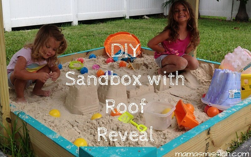 Check out our DIY Sandbox with Roof Reveal, learn about how we built our first do it yourself family project and enter the Bosch Builds Memories Giveaway!