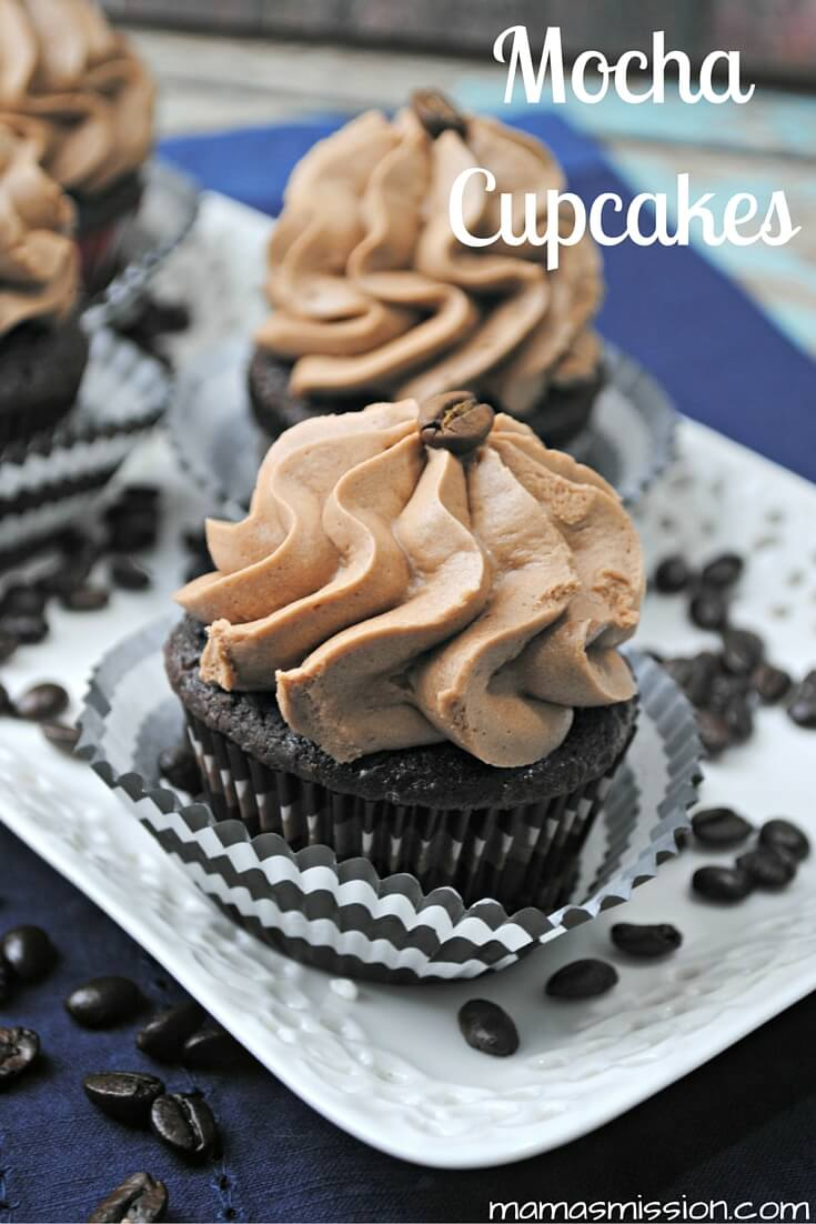 These delicious Mocha Cupcakes are a coffee and chocolate lovers dream! This Mocha Cupcakes recipe is easy to make and is sure to please as a sweet treat.