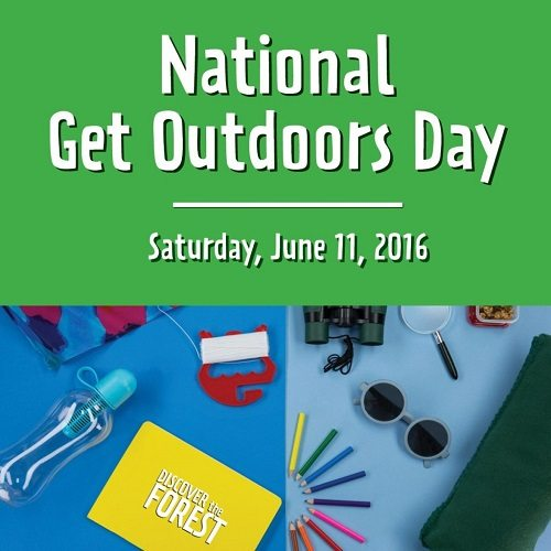 Get yourself outdoors! National Get Outdoors Day is Saturday, June 11, 2016 so take some time to get to know the beauty of the nature that surrounds you.