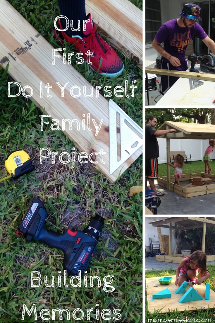 We finally did it! Our very first do it yourself family project is a sandbox with a roof. We could have bought one, but then we couldn't create memories.