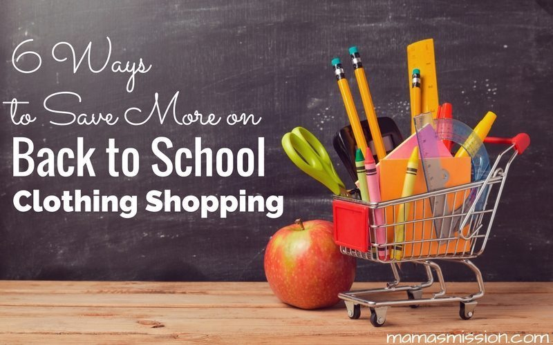 Back to school shopping can be a burden on your wallet. Here are five ways to save more on back to school clothing without breaking the bank.