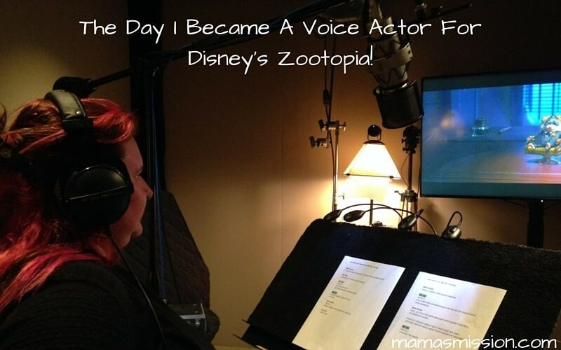I've had the most incredible experiences blogging. And then it happened. Suddenly I was put into the recording booth as a voice actor for Disney's Zootopia!