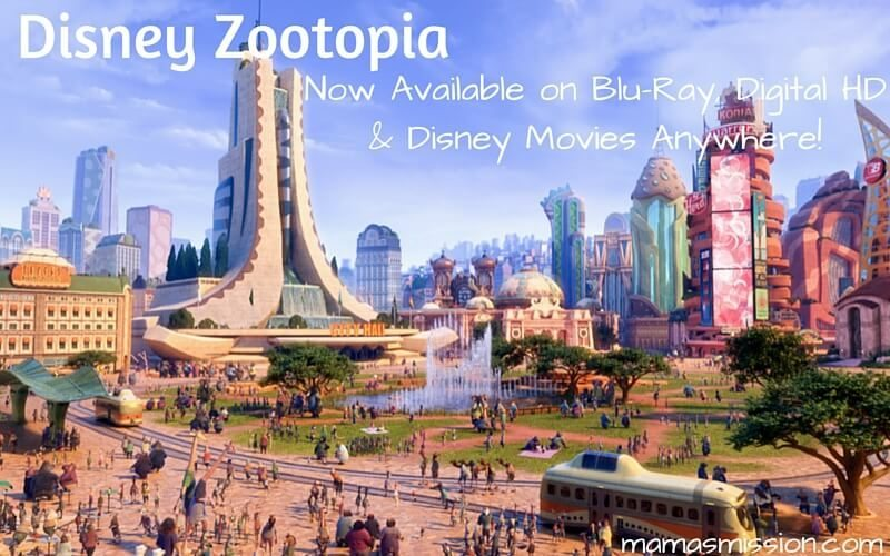 An animal metropolis like no other. Disney Zootopia On Blu-ray, Digital HD and Disney Movies Anywhere with Special Bonus Content is now available!