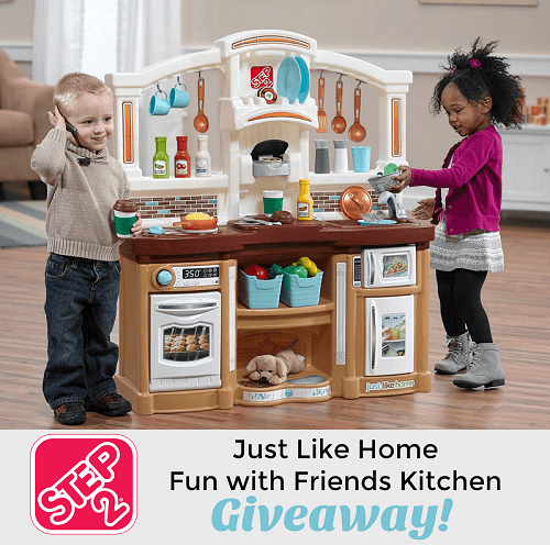 Kids love to play and pretend play helps to expand their minds. Enter to win the Just Like Home Fun with Friends Step2 Kitchen Giveaway!