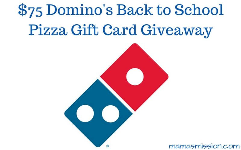 Love pizza?? Celebrate heading back to school by entering to win a $75 Domino's Back to School pizza gift card! Tell us all about your favorite toppings!!!