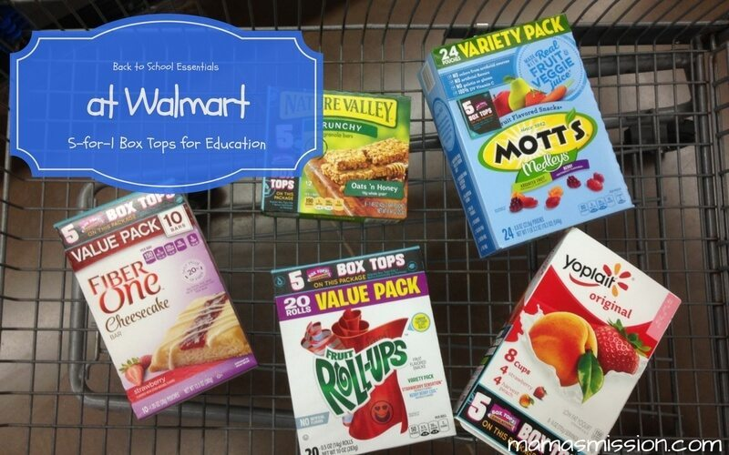 Get all your back to school essentials at Walmart and 5-for-1 Box Tops for Education for a limited time. Everything you need all in one place, plus savings!