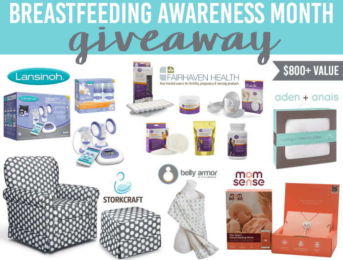 Whether you are a breastfeeding pro or prefer to bottle feed, you are doing great! We are celebrating Breastfeeding Awareness Month with a huge giveaway.