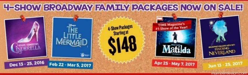 The 2016-17 season of Broadway Across America is going to be amazing with the Broadway Family Show Package at Broward Center for the Performing Arts!
