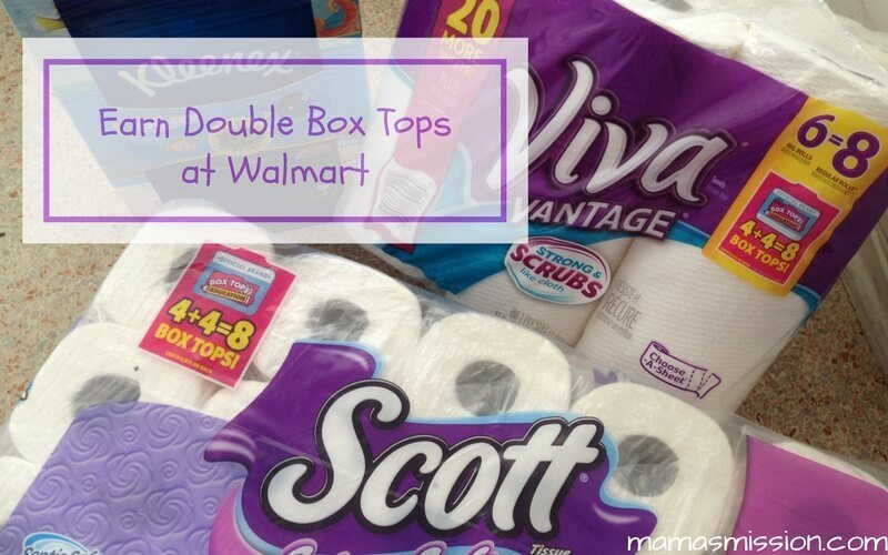 Earn Double Box Tops at Walmart when you get your back to school and household shopping done all in one place for great savings!