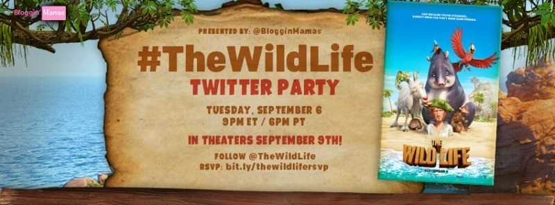 The Wild Life is swinging into action in theaters everywhere on 9/9. Join us as we celebrate the release at #TheWildLife Twitter Party on 9/6 at 9pm EST!