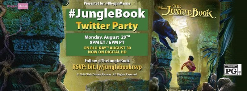 The Jungle Book is swinging into live-action on DVD and Blu-ray. Celebrate the release at The Jungle Book Twitter Party 8/29 at 9pm EST! RSVP to win!