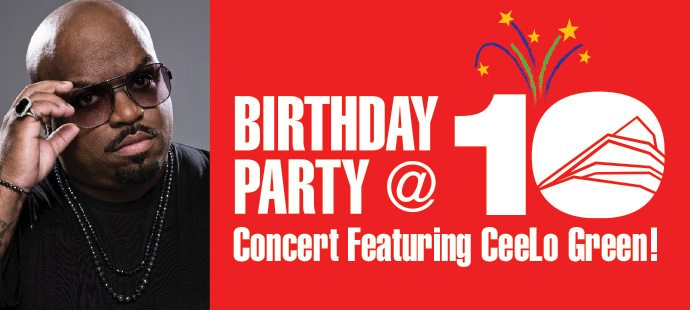 The Arsht Center is celebrating it's 10th Birthday with a huge bash and you're invited! Win tickets to the CeeLo Green concert celebrating the Arsht Center.