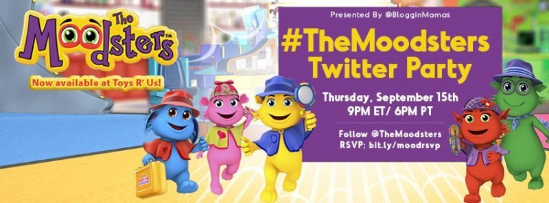 Join The Moodsters as we celebrate their new lines of products at the #TheMoodsters Twitter Party on 9/15 at 9pm EST! RSVP to win fun prizes!!!