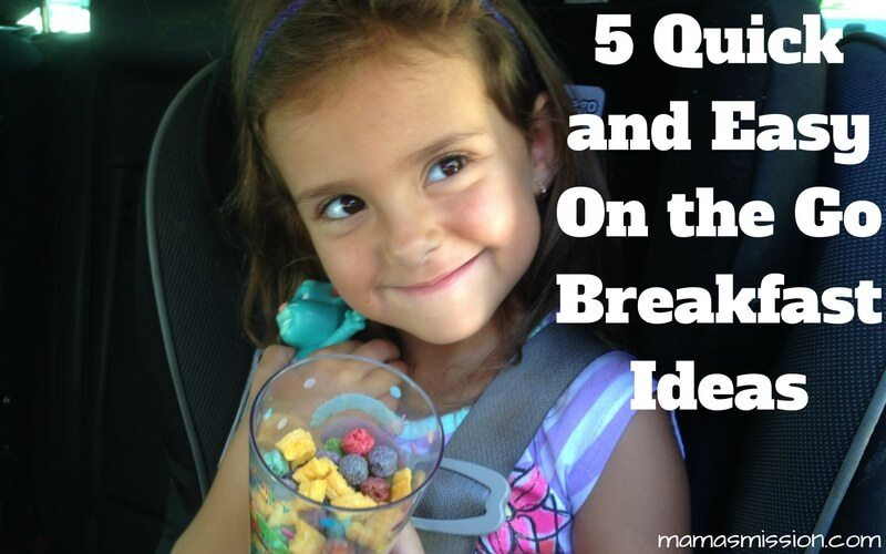 Mornings can be crazy, but they don't have to be. These 5 quick & easy on the go breakfast ideas will help you and the kids get a head start every morning!