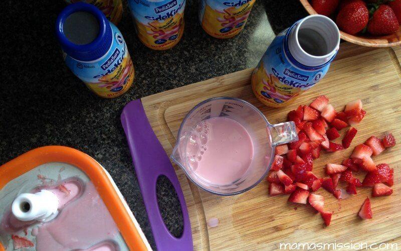 pediasure sidekicks strawberry shake frozen treat