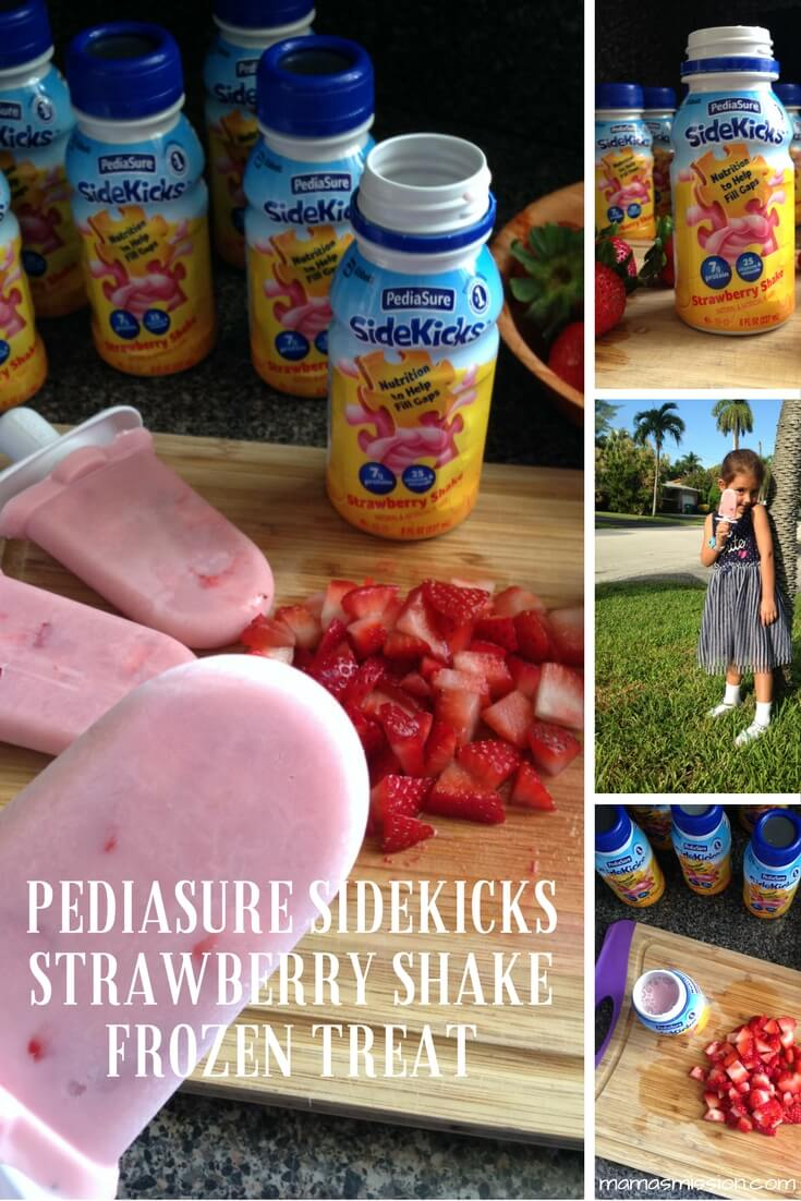 Worried about your picky-eater? Little one not feeling well? Ease your mind with this delicious PediaSure SideKicks Strawberry Shake Frozen Treat!