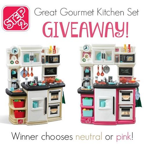 Step2 has everything your child needs to enjoy a day of pretend play. Enter to win the Step2 Great Gourmet Kitchen Set Giveaway in your choice of color!
