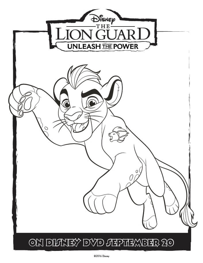 The Lion Guard Coloring Pages - Unleash The Power