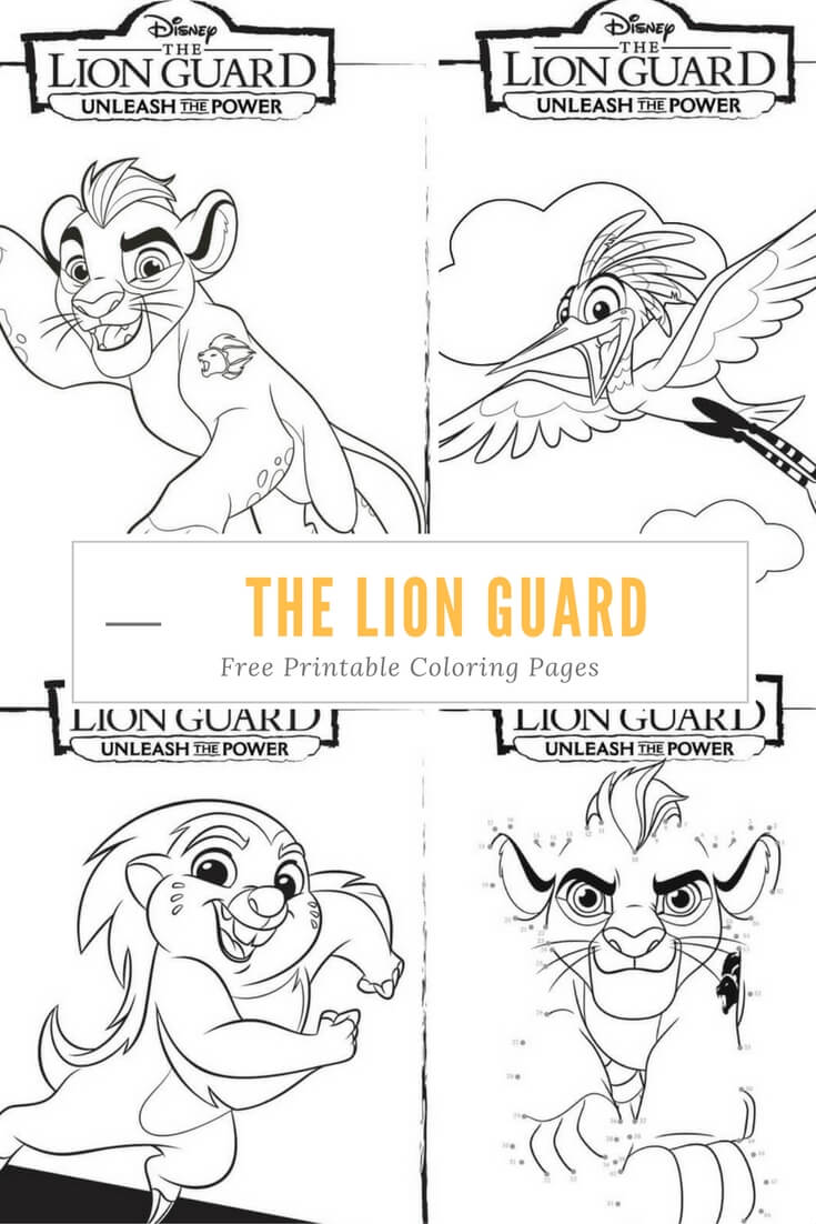 Lion guard coloring book - Unleash The Power With These Great The Lion Guard Coloring Pages And Activity Page Full