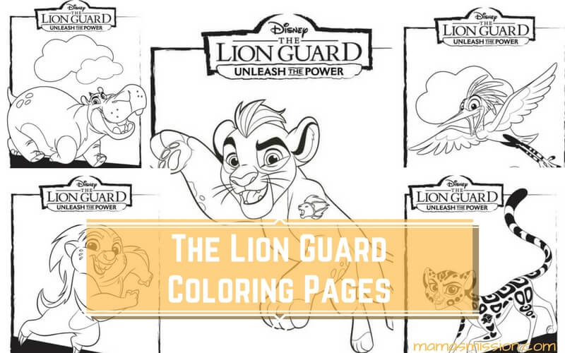 Unleash The Power With These Great Lion Guard Coloring Pages And Activity Page Full