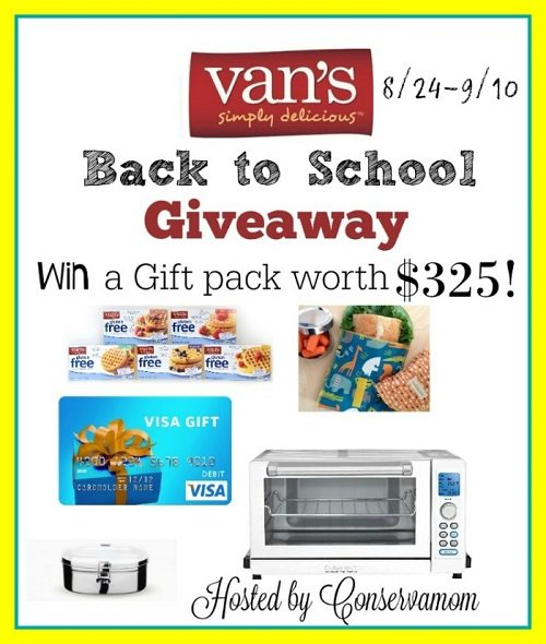 Start your day with a delicious breakfast from Van's with this $100 Visa Gift Card & Van's Back to School giveaway valued at over $325!