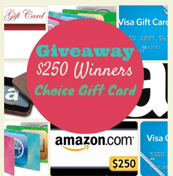 We appreciate our readers so much that we are hosting a $250 monthly Gift Card Giveaway of the winners choosing. Enter here for your chance to win!