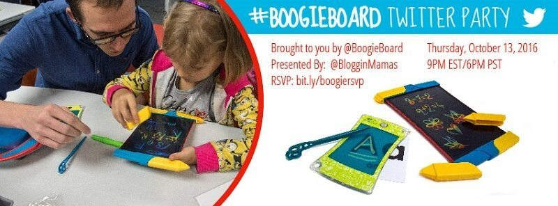 Let's Boogie with Boogie Board at the #BoogieBoard Twitter Party to learn more about these neat boards on 10/13 at 9pm EST! RSVP to win fun prizes!!!