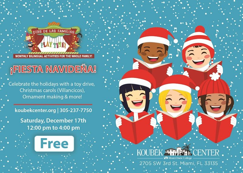 Free Family Event celebrates the Holidays on Dec. 17, 2016 - 12p - 4p! This bilingual programing at the Koubek Center is a free monthly event for families.