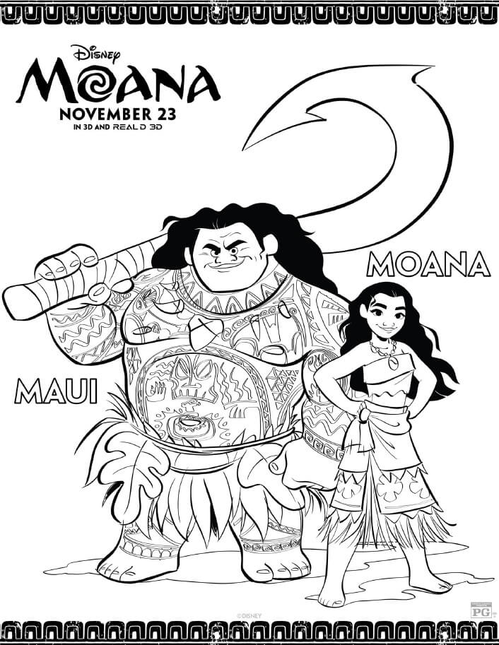 disney moana coloring pages are now available to download and print for free print and - Coloring Pg