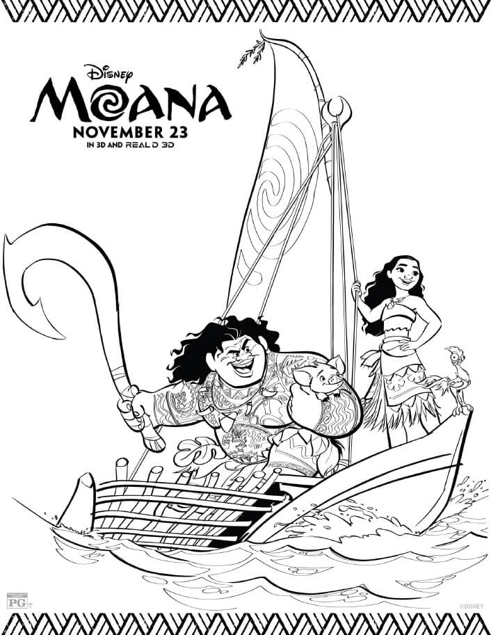 Moana Coloring Pages - Free Printables From Disney
