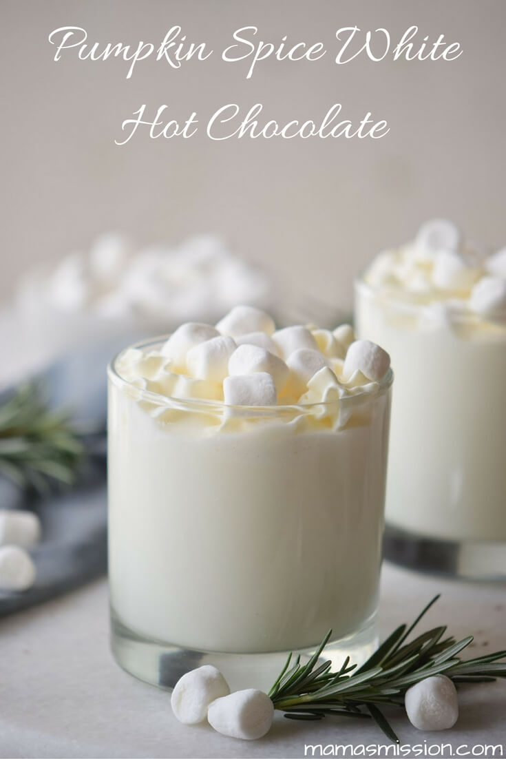 Fall is upon us and so is pumpkin season. If you enjoy hot chocolate like I do, then you'll want to try this pumpkin spice white hot chocolate recipe.