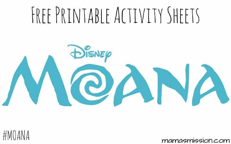 printable moana activity sheets free to download and print from home
