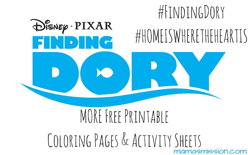 Printable Finding Dory Coloring Pages and Activity Sheets