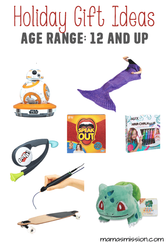 Still looking for the perfect holiday gifts for kids ages 12 and up? Look no further because Mama's got you covered with a hot list of toys kids love!