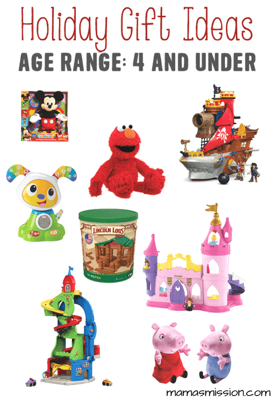 Still looking for the perfect holiday gifts for kids ages 4 and under? Look no further because Mama's got you covered with a hot list of toys kids love!