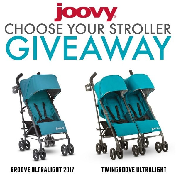 Tis' the season for a Joovy Groove Ultralight Stroller Giveaway! Best of all the winner gets to choice between a single or double in any color.