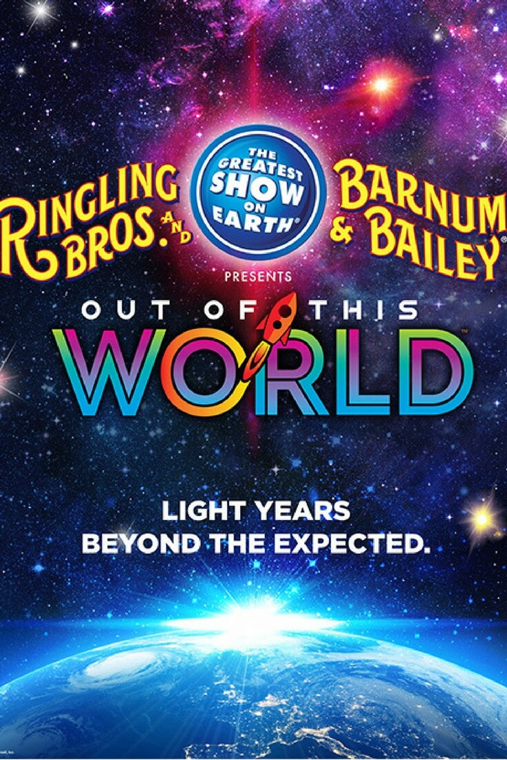 Ringling Bros. Out Of This World is the newest & greatest show on Earth. Get a discount code for the entire family to see the show. Ringling Bros. has reinvented itself with their newest Greatest Show on Earth. Their latest Out Of This World circus, truly is out of this world!