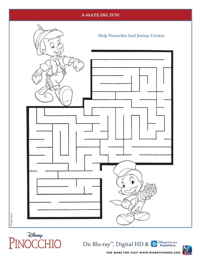 If you could wish upon a star, what would you wish for? Make your wish come true with these free printable Pinocchio coloring pages and activity sheets.