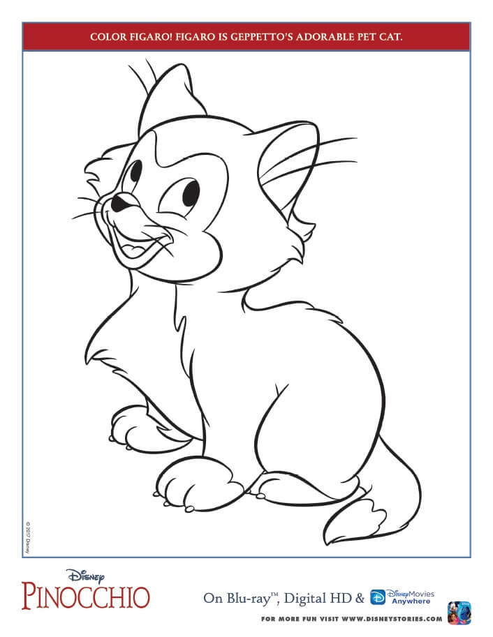Pinocchio Coloring Pages And Activity Sheets