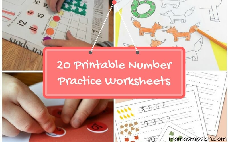 Teaching numbers to children should always be fun. These 20 Printable Number Practice Worksheets For Fun and Learning will help you get started!