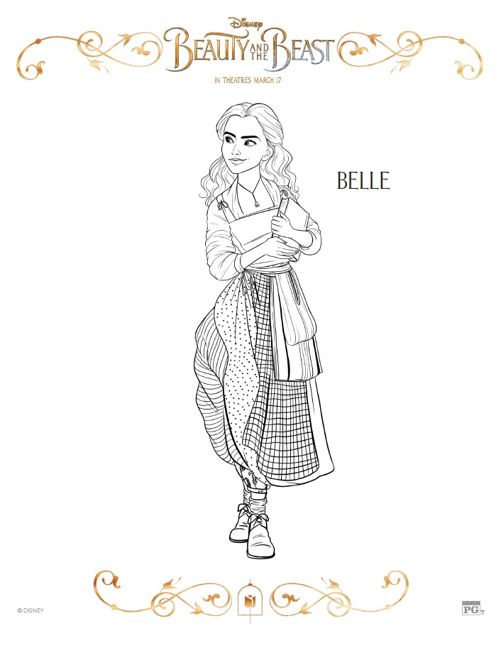 celebrate the tale as old time with free printable beauty and the beast coloring pages