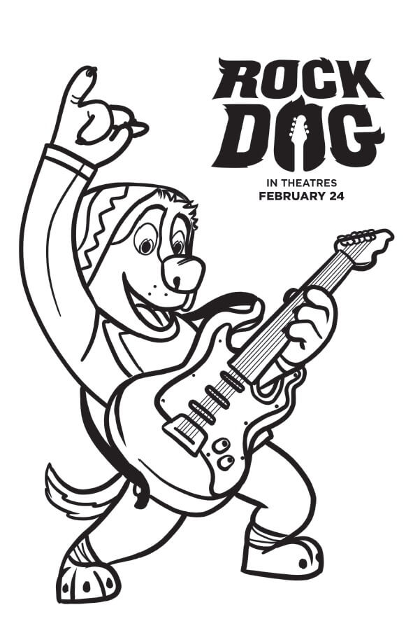 Rock Dog Coloring Pages and Activity