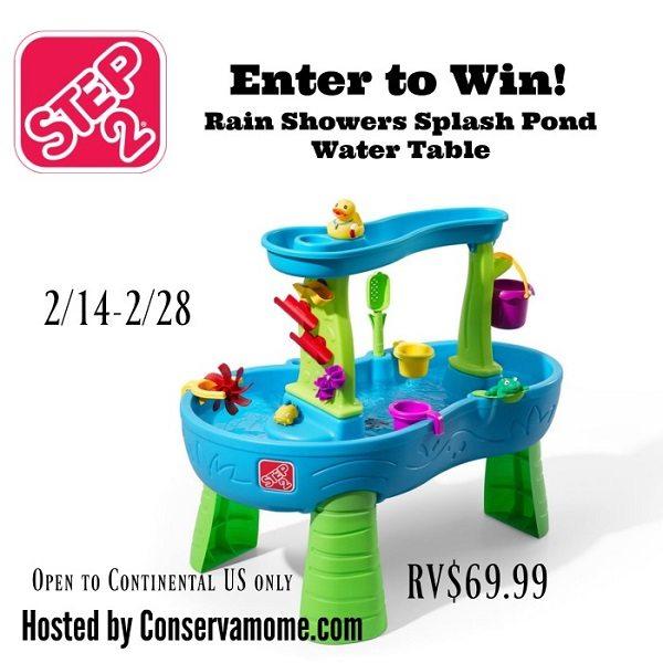 Step 2 Rain Showers Splash Pond Water Table Giveaway